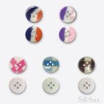 plastična šarena dugmad