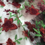 2 EMBROIDERY TULLE