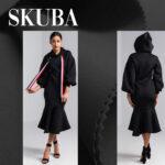 crna skuba duks haljina