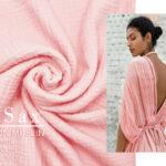 COTTON MUSLIN pastel roze