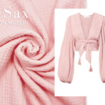 COTTON MUSLIN pastel roze 2