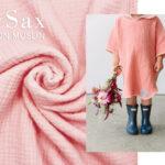 COTTON MUSLIN pastel roze 3