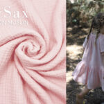 COTTON MUSLIN pastel roze 4